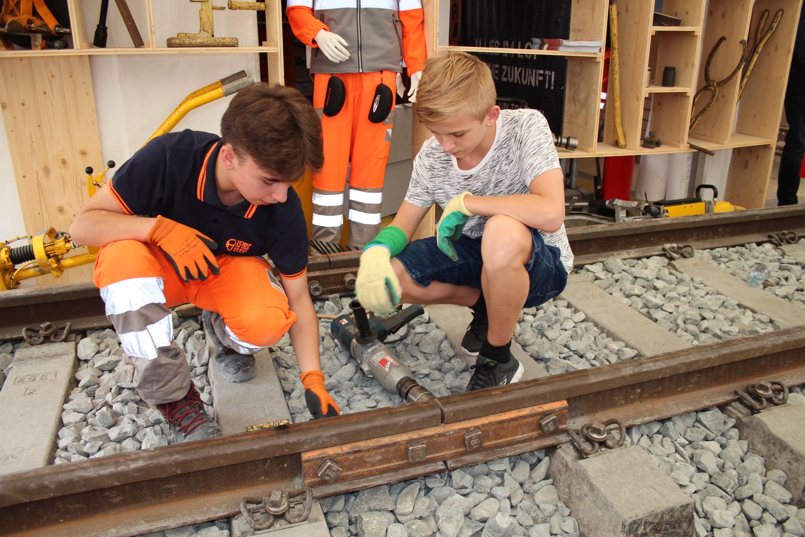 Gleisbau ist ein wichtiges Berufsfeld im Bauhauptgewerbe